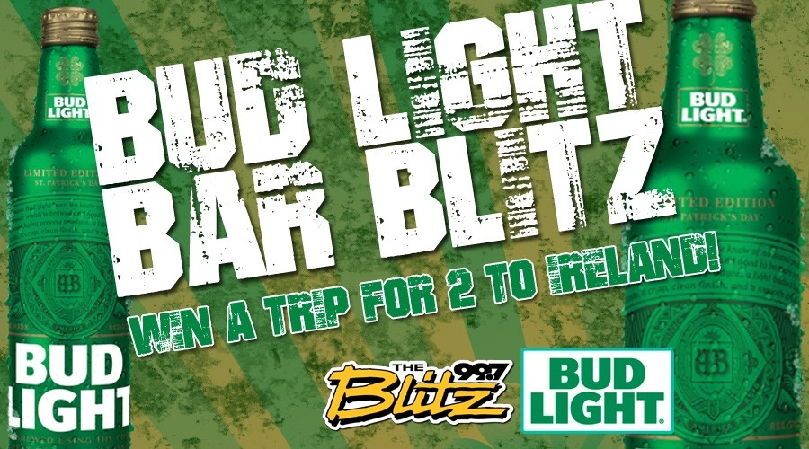 St Patty's Bud Light Bar Blitz
