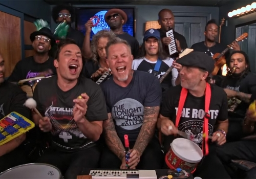 METALLICA GOES BACK TO BASICS ON THE TONIGHT SHOW