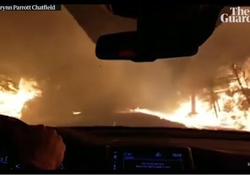 Watch This Terrifying Drive Through California Flames