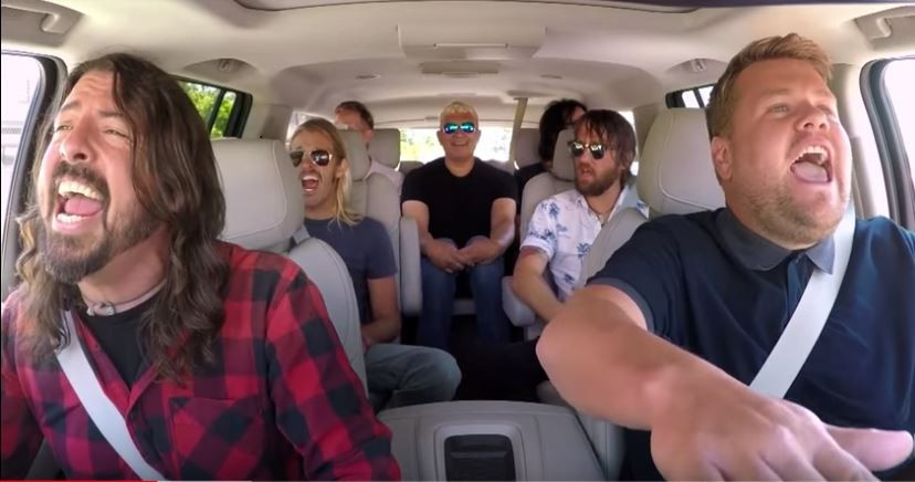 "Foo Fighters On 'Carpool Karaoke"" with James Corden"