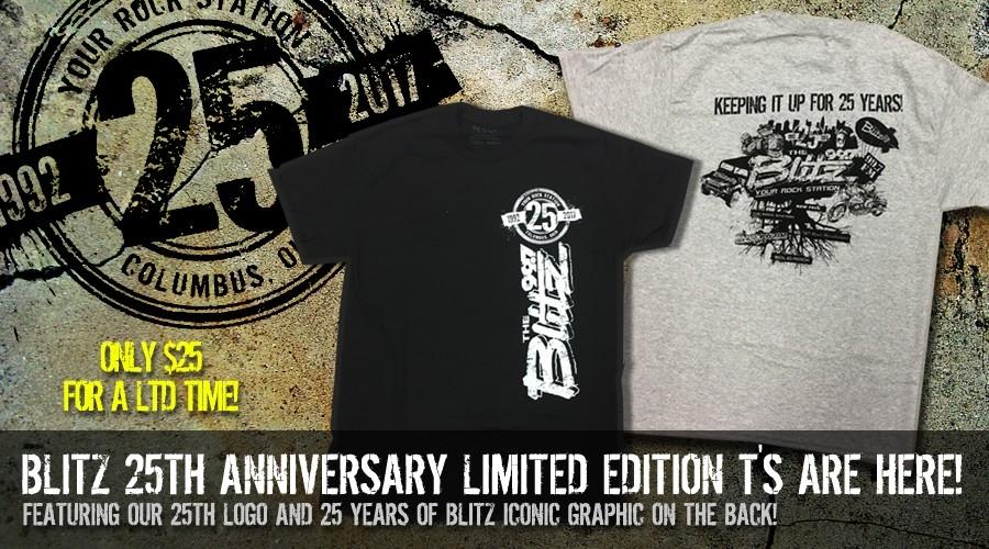 New Blitz Gear! 25th Anniversary Shirts!