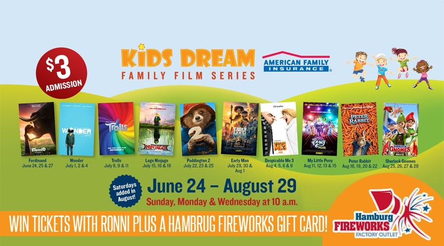 Win a Family 4 Pack to the Kids Dream Film Series