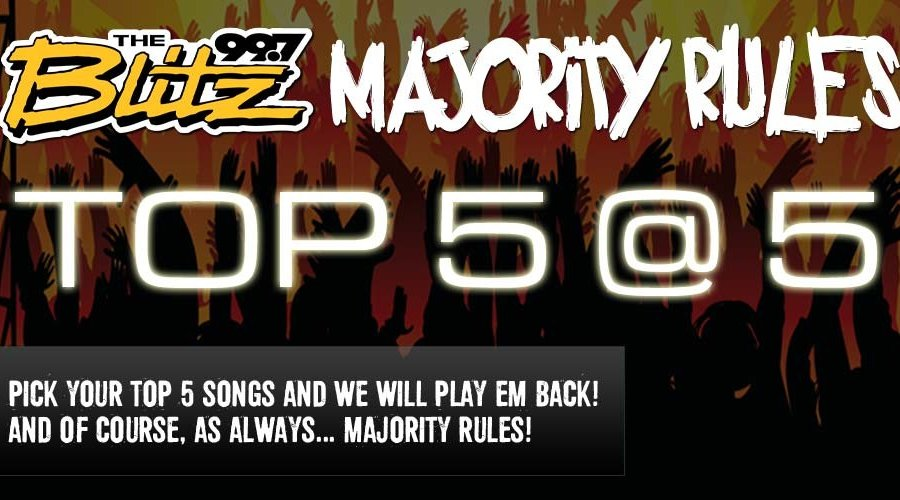 Majority Rules: Top 5 @ 5!