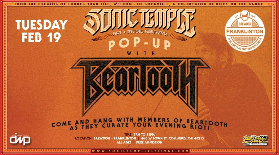 Sonic Temple Pop Up feat. Beartooth