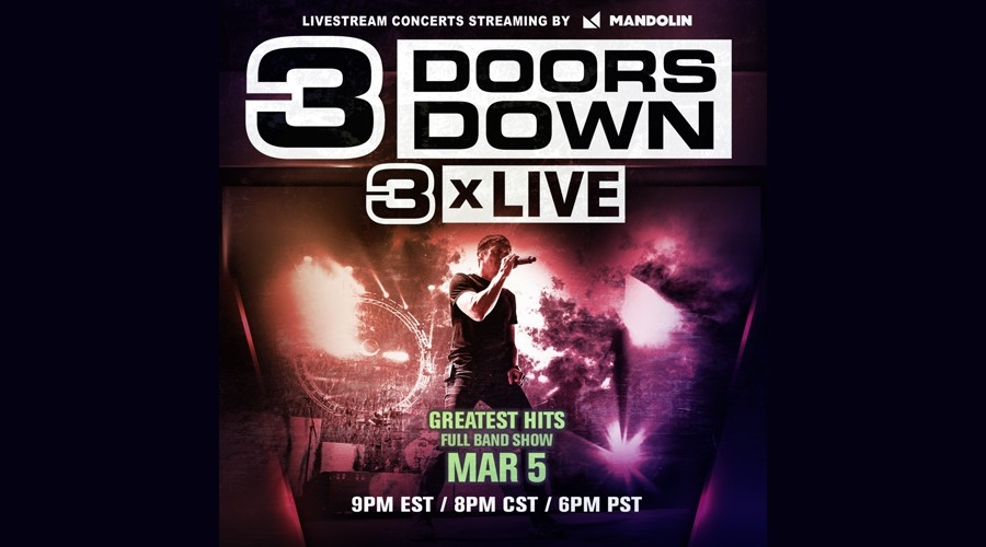 Win a 3 Doors Down Livestream Code