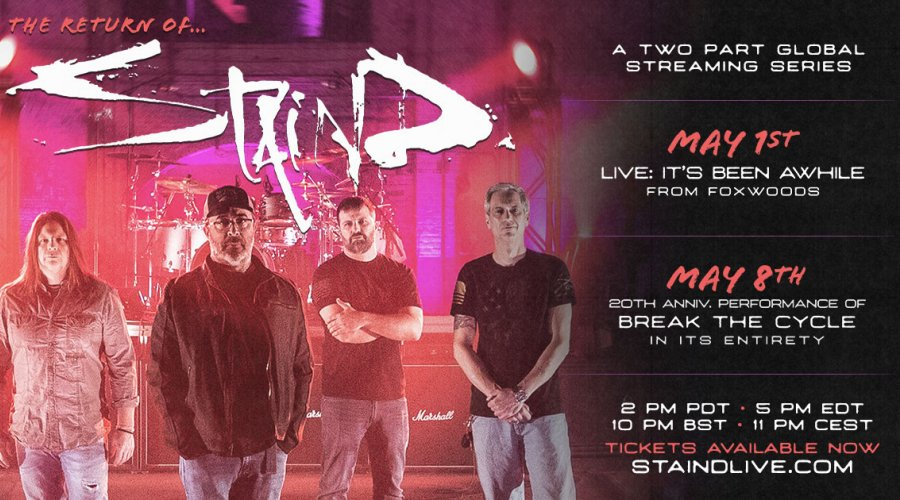 Win Codes to Watch Staind's Two - Part Livestream Event