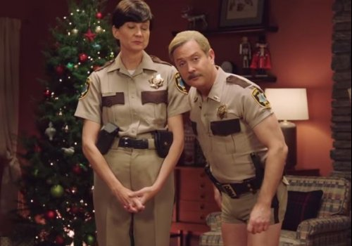 The Cast of Reno 911 re-unite for a holiday PSA