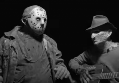 "The most beautiful friendship to ever appear on screen ❤️ Freddy And Jason Come Together For ""More Than Burns"""