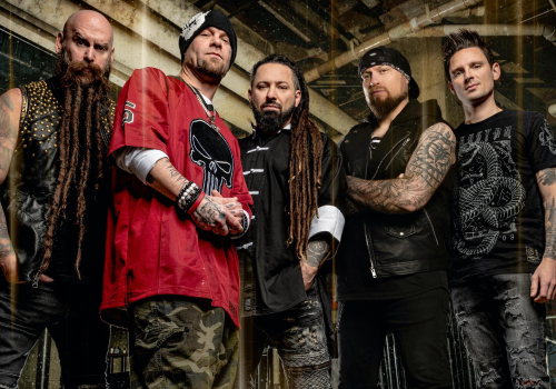 "Five Finger Death Punch dropped the video for ""Darkness Settles In"" It has exclusive first look footage from 'The Retaliators' movie which the band appears in too!"