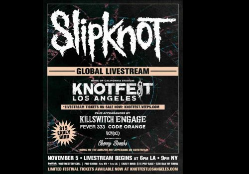Maggots Rise! Slipknot have announced they'll be presenting their very first livestream!
